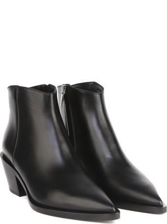 Gianvito Rossi Black Leather Ankle Boot