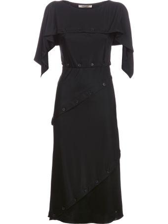 Roberto Cavalli Button Detail Dress