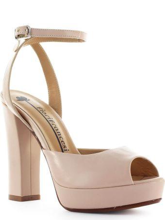 Fiori Francesi Nude Pink Platform Sandal