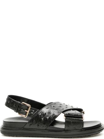 Marni Ostrich Printed Fussbett Sandals