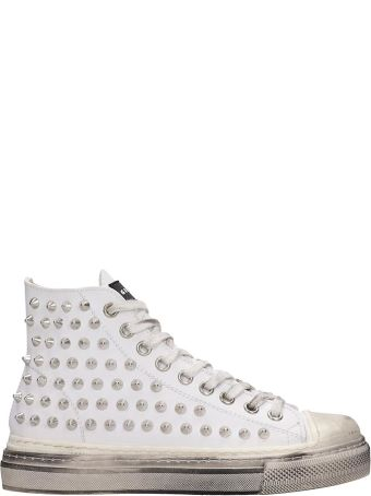 Gienchi J.m.high Sneakers In White Rubber/plasic