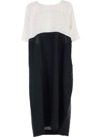 Daniela Gregis Dress S/s Round Neck Bicolor