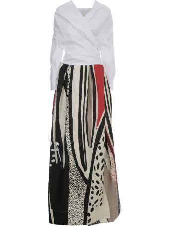 Sara Roka Printed Silk Long Dress