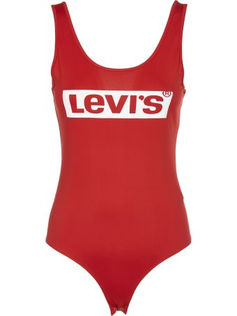 Levi's Logo Print Swim Suit