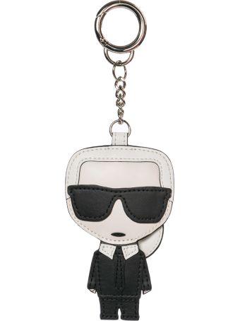 Karl Lagerfeld  Genuine Leather Keychain Keyring Holder Gift