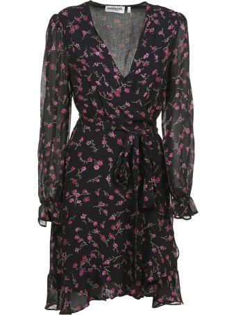 Essentiel Floral Wrap Mini Dress