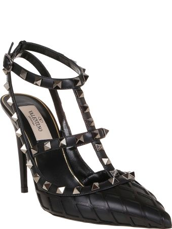 Valentino Rockstud Ankle Strap T.100
