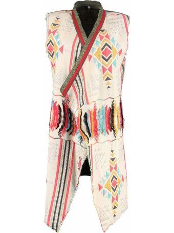 Alessandra Chamonix Valentine Embroidered Long Cotton Vest