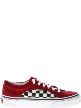 Vans Red Check Suede & Mesh Sneakers
