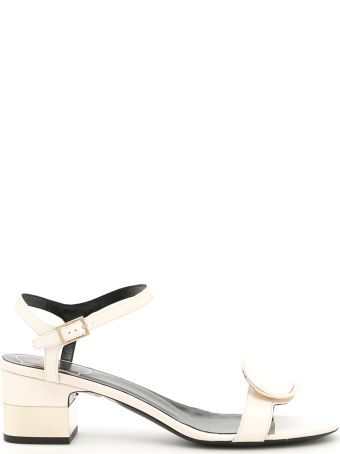 Roger Vivier Patent Chips West 50 Sandals