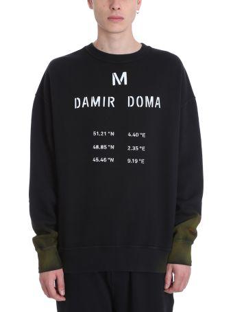 Damir Doma Black Cotton Sweatshirt