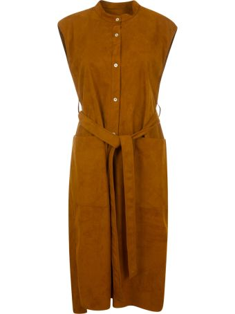 Mackintosh Sleeveless Belted Dress