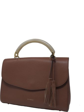 Almala Brown Leather Ambra Bag