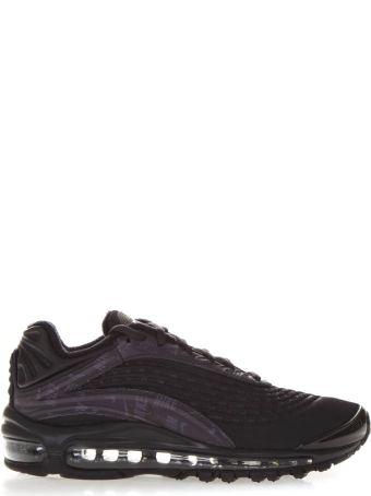 Nike Black Nylon Laced Up Logo Sneakers