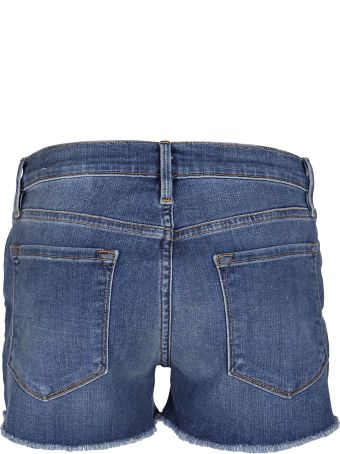 Frame Blue Denim Shorts