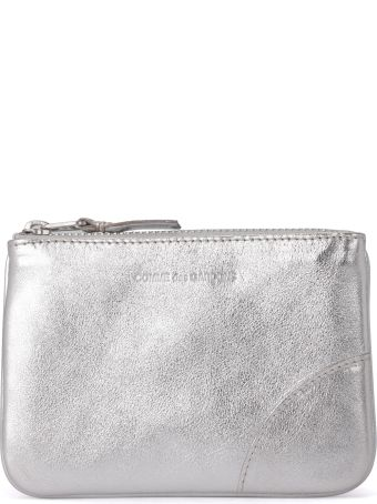 Comme des Garçons Wallet Silver Leather Purse
