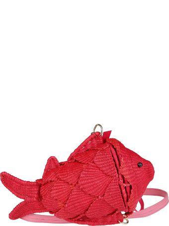 Sensi Studio Red Straw Bag