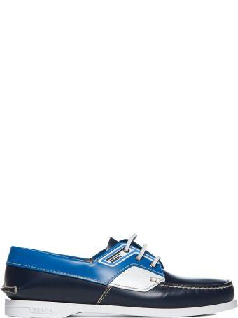Prada Studded Boat Shoes