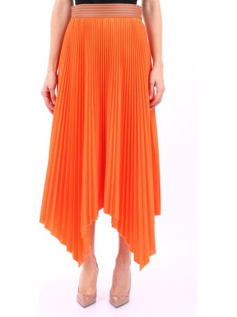 Loewe Pleated Skirt Orange