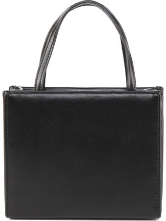 Love Moschino Love Moschino Black Faux Leather Studs Bag