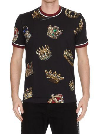 Dolce & Gabbana Crowns Print T-shirt