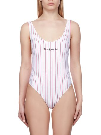 Marcelo Burlon Striped Swimsuit