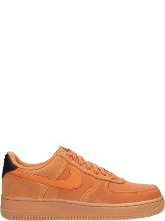 Nike Light Browne Fabric Air Force 1 07 Sneakers