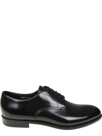 Doucal's Derby In Black Leather