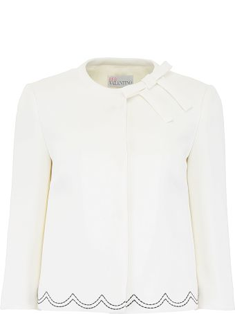 RED Valentino Short Jacket With Contrast Scallop