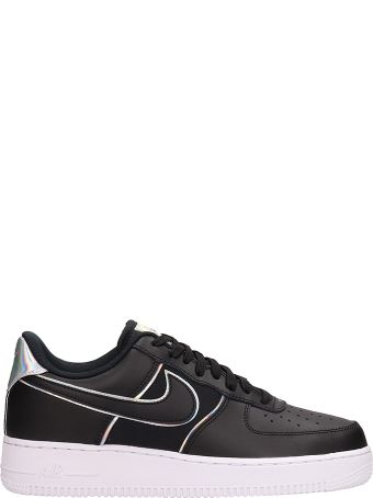 Nike Air Force 1 07 Black Leather Sneakers