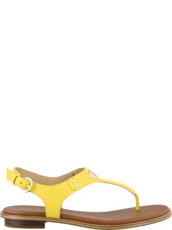 Michael Kors Plate Thong Sandals