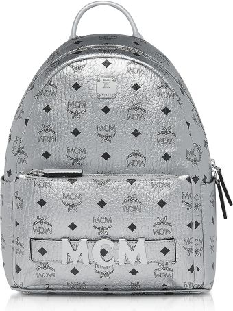 MCM Berlin Silver Visetos Trilogie Stark Backpack