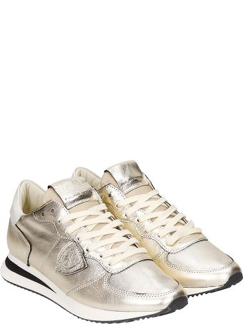 Philippe Model Trpx L Sneakers In Gold Leather