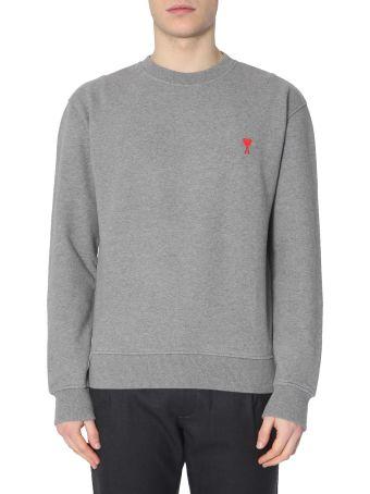 Ami Alexandre Mattiussi Sweatshirt With Embroidered  Ami De Coeur