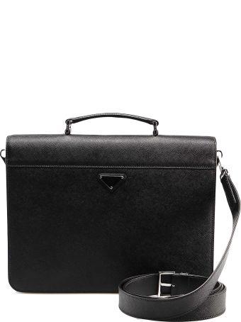 Prada Briefcase Saffiano Travel