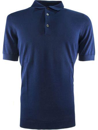 Drumohr Bluette Cotton Polo Shirt