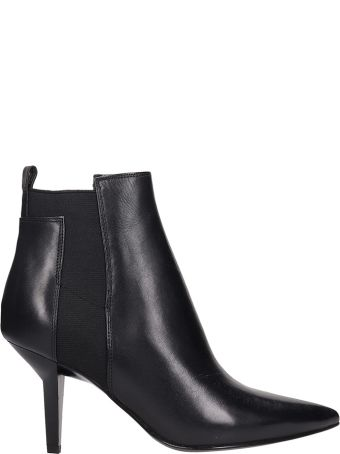 Kendall + Kylie Viva Black Leather Ankle Boots