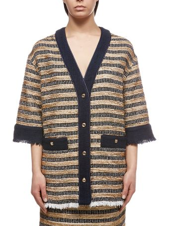 Alessandra Rich Button Knitted Jacket