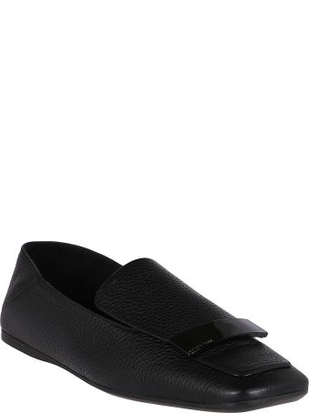 Sergio Rossi Black Leather Sr1 Loafers
