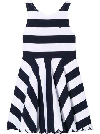 Ralph Lauren White Flared Sleeveless Dress