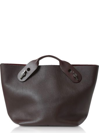 Sophie Hulme Oxblood Soft Leather Bolt Tote