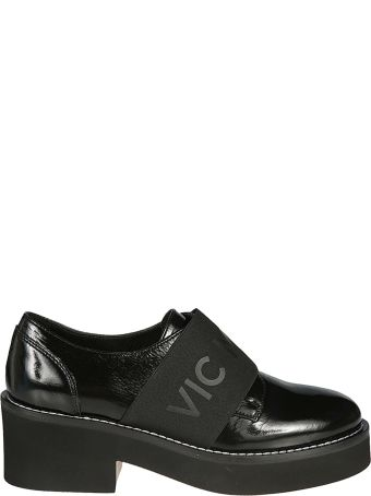 Vic Matié Vic Matie' Logo Band Wedge Loafers