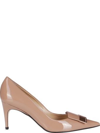 Sergio Rossi Nude Leather Sr1 Pumps