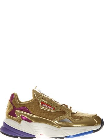 Adidas Originals Falcon Ecoleather & Mesh Gold Sneakers