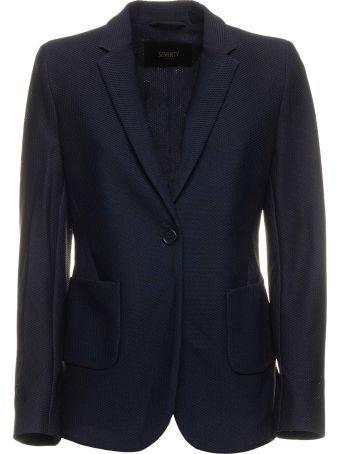 Seventy Seventy Dark Blue Blazer Jacket