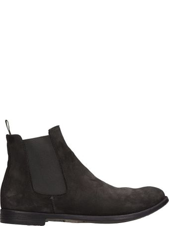 Officine Creative Grey Nabuk Ankle Boots