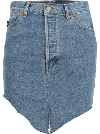 VETEMENTS Side Cut Denim Skirt