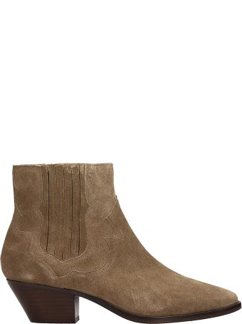 Ash Falcon Beige Suede Ankle Boots