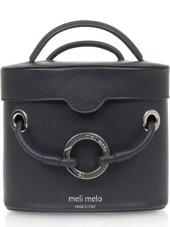 Meli Melo Nancy Black Leather Cylindrical Bag