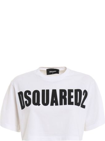Dsquared2 Logo Print Cropped Top